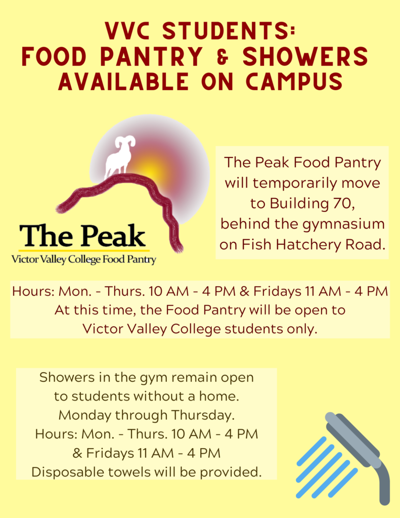 showers and food pantry